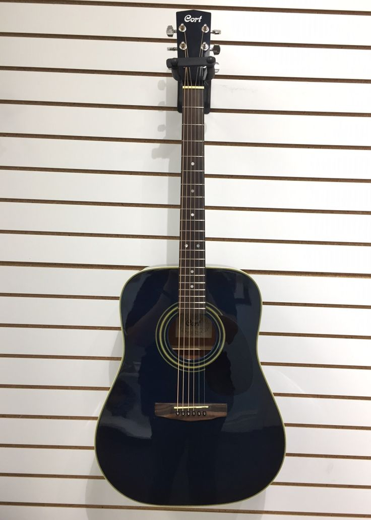 Stunning Midnight Blue Cort (Model: AD-870BLB) Six String Acoustic Guitar & Case for $159.99! Available at Gadgets and Gold!