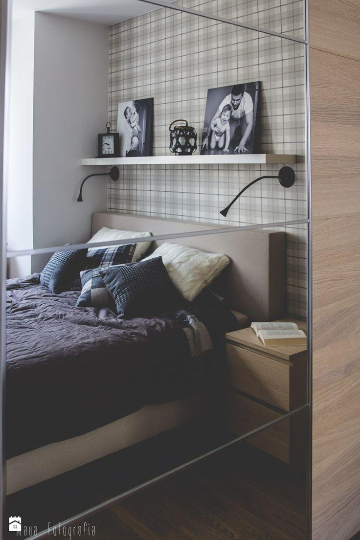 Metamorfoza mieszkania 80m2 - Mała sypialnia małżeńska - zdjęcie od Meblościanka Studio