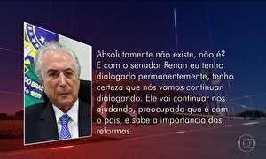 Temer nega influência de Eduardo Cunha no governo federal
