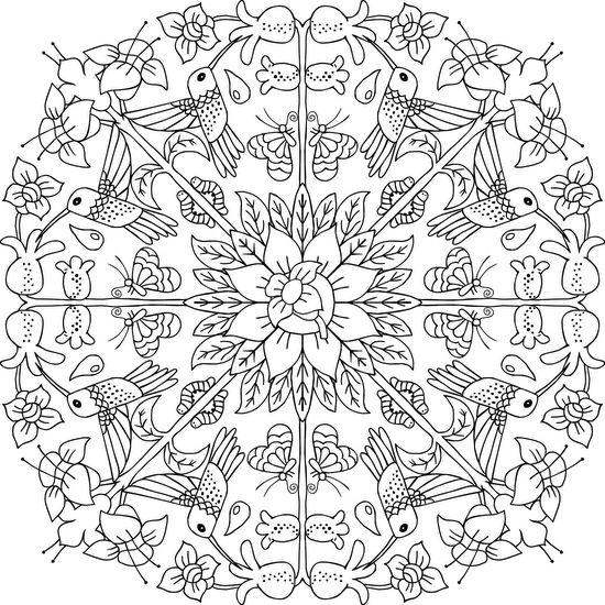 Hummingbird Wreath Mandala Coloring Page #adultcoloring #mandalas #mondaymandala #coloring #ilovetocolor #art #color #printable #coloringpages #print #blackandwhite