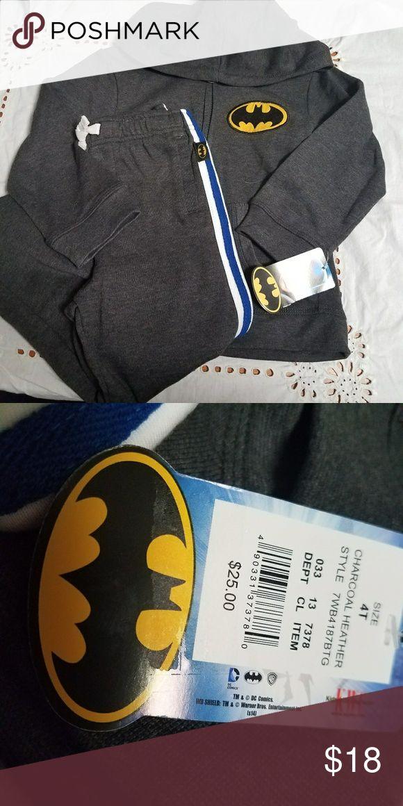 Batman sweat suit Nwt Batman hoodie plus matching sweat pants. Matching Sets
