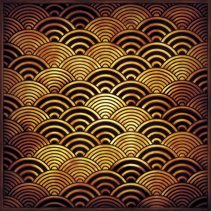 Japanese traditional waves pattern, seigaiha 青海波