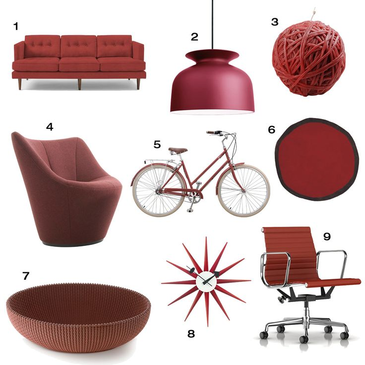 We scoured the internet to find a handful of modern home furnishings to match Marsala, the Pantone Color of the Year 2015, a deep earthy red.