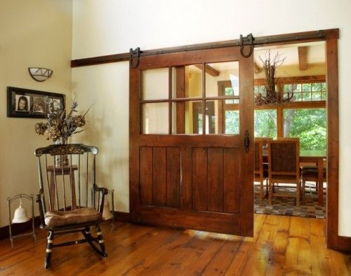 Interior Sliding Barn Door by Keim Lumber Company, Charm, OH |  Custom Milled, Interior Sliding Door, Knotty Alder Wood