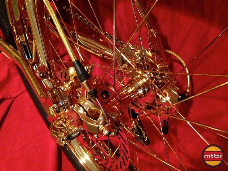 24k Gold Bike Rear Wheel