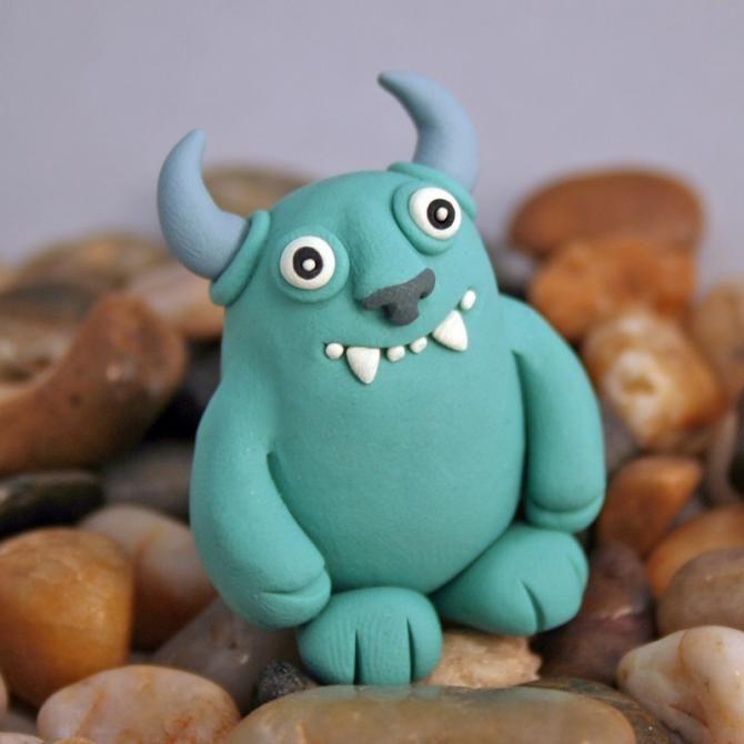 Monstruos de Plastilina   cute arte  talento