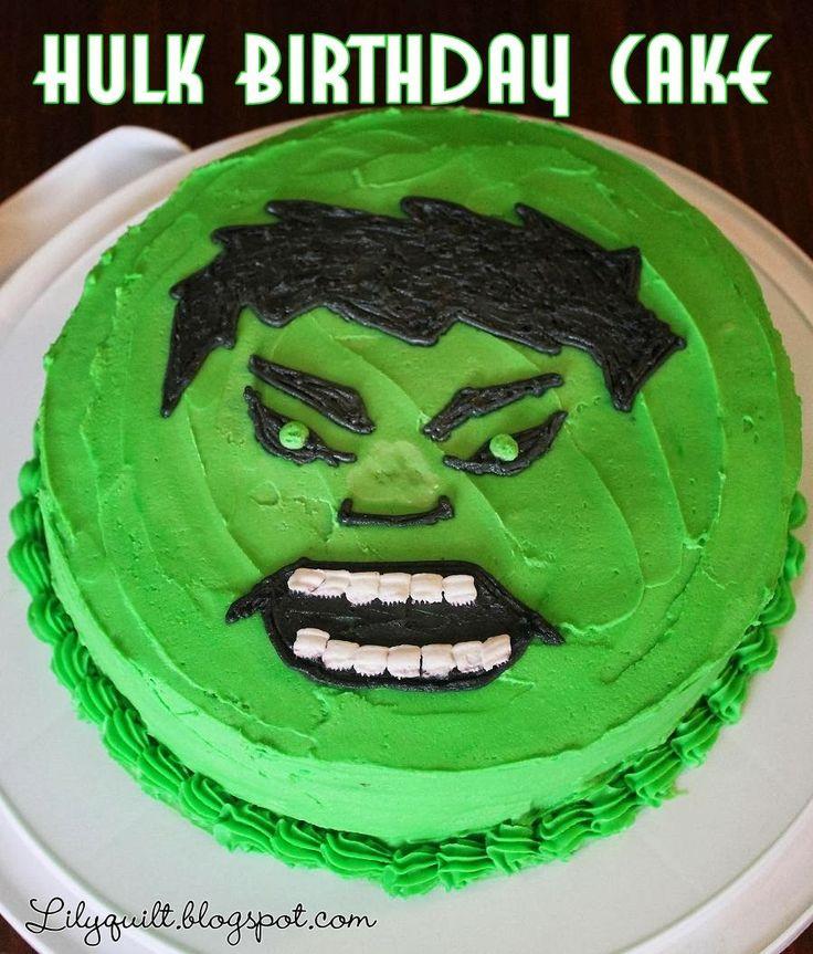 Hulk Smash! Birthday Cake