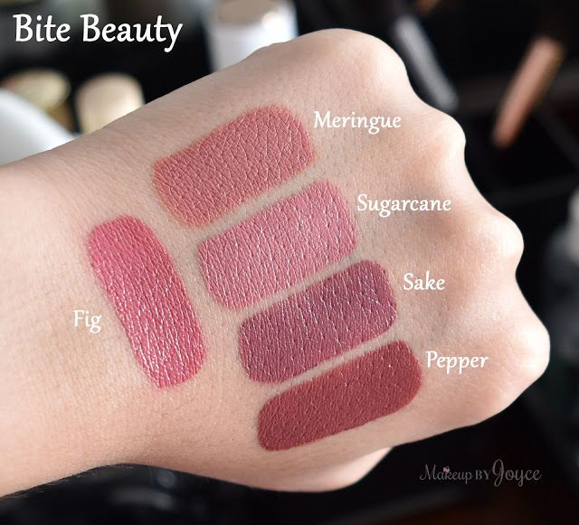 Bite Beauty Lipsticks Fig Swatches