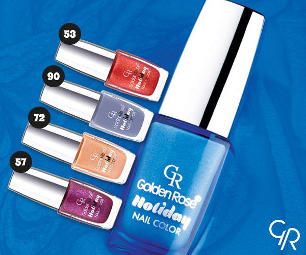 Uzun süre kalıcı ve göz alıcı 40 harika renkten oluşan Holiday oje serisi soğuk günlerde parmaklarını ısıtacak. http://www.goldenrosestore.com.tr/holiday-nail-color