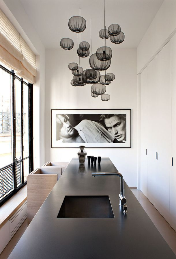 don't forget the kitchen as a space to hang photographs - especially if your friends & family look like this!