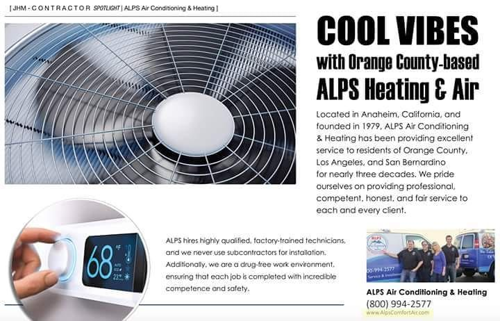Cool Vibes With Orange County Based Alps Heating Air Justhome Alps Hvac Summer Hot C House And Home Magazine Air Heating Heating And Air Conditioning