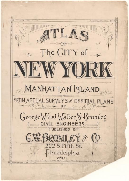 nyc surveys atlas of the city of new york manhattan island from 8774