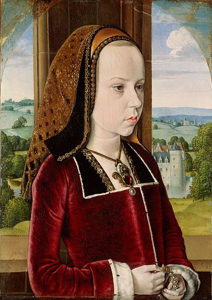 A biography of Margaret of Austria, Duchess of Savoy and Regent of the Netherlands, by Susan Abernethy: http://thefreelancehistorywriter.com/2013/06/28/margaret-of-austria-duchess-of-savoy-and-regent-of-the-netherlands/ IMAGE: Portrait of Margaret of Austria,age 10, by the Master of Moulins.