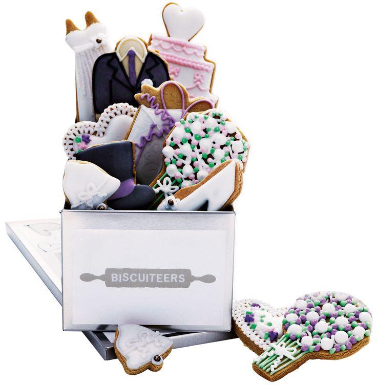 Wedding-theme biscuit tin, Biscuiteers, Rs 200 onwards; Biscuiteers.com