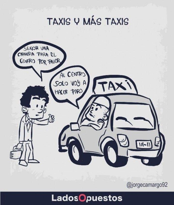 Paro de taxistas Bogotá Ladosopuestos noticias colombia Lados Opuestos