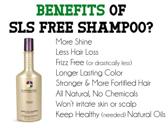 Benefits of Sulfate Free Shampoo... might help with my sensitive skin too