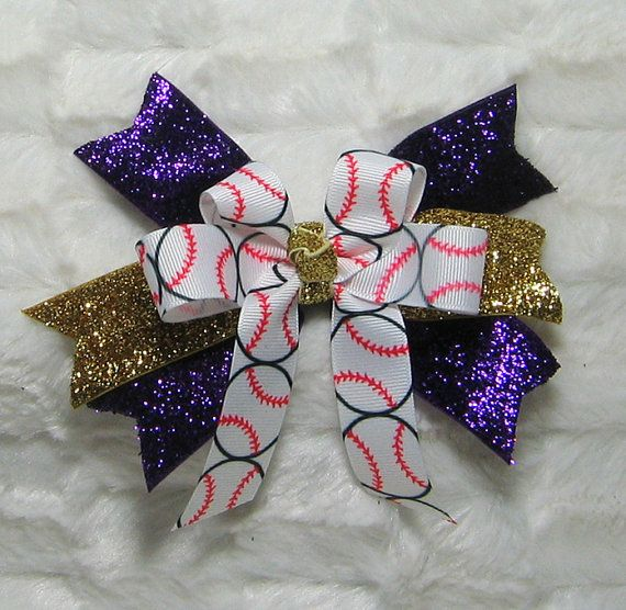 Hey, I found this really awesome Etsy listing at https://www.etsy.com/listing/177811826/girls-bling-ponytail-softball-bow-gold