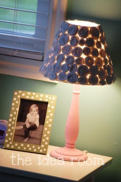 Flower Covered Lamp Shade