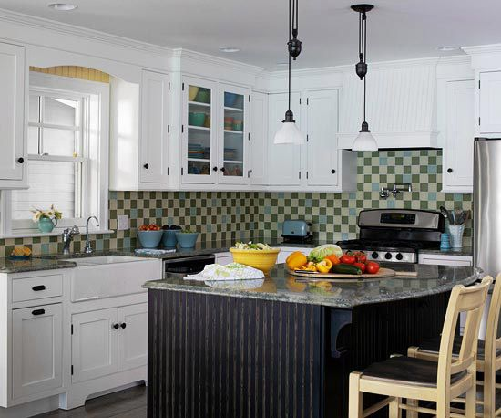 Find the perfect kitchen color scheme green tiles for Perfect kitchen colours