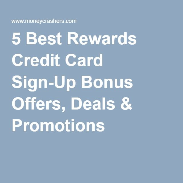 Best credit card deals bonus