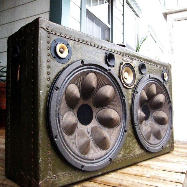 Steampunk Boombox - Vintage Suitcase Boombox by BoomCase #burningman