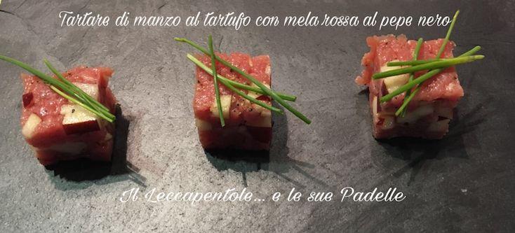 TARTARE+DI+MANZO+AL+TARTUFO+CON+MELA+ROSSA+AL+PEPE+NERO