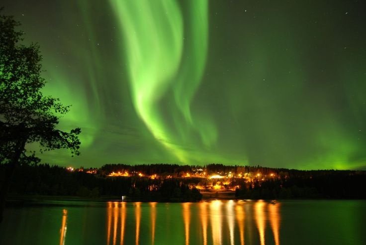 Nordlys ved Lian i Trondheim (Foto: Inge Aune Paulsen)