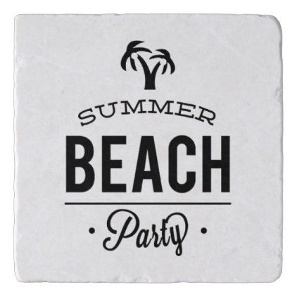 Summer Beach Party Trivet - fun gifts funny diy customize personal