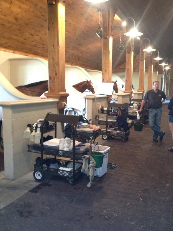 Use milker cart to organize small show barn equipment. It's always laying around all over the place, right?!