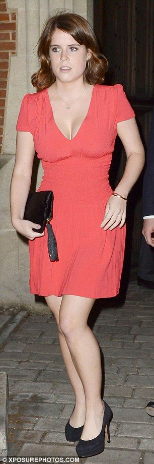 Eugenie arrives for the party at Crosby Hall