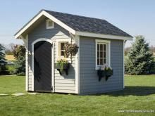 8x10 Classic Garden Shed with window flower boxes Homestead 3695
