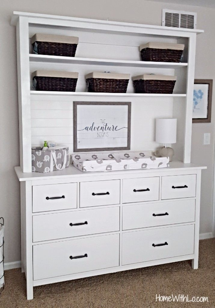 Baby Changing Table/dresser Combination Using An IKEA Hemnes Dresser.  Tutorial On Homewithlo.