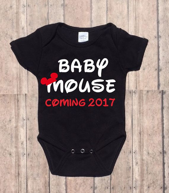 Baby Mouse Disney Pregnancy Announcement  by LittleJaneLaneDesign