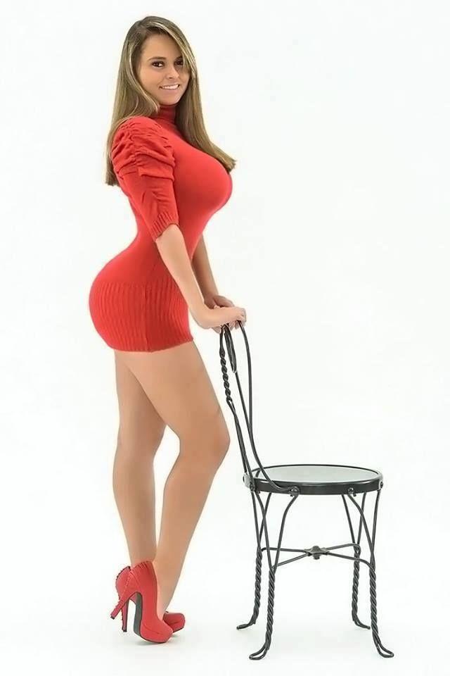Big boobs tight skirt