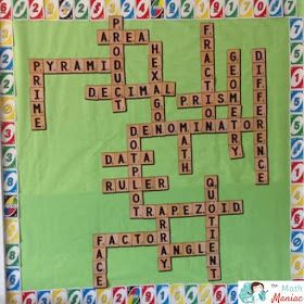 The Elementary Math Maniac: Monday Made It: Scrabble Math Bulletin Board Freebie