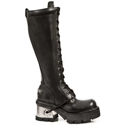 $200...cheapest I've found yet. Dear New Rock boots....I love you. Sz 43 http://www.pyrettaslair.com/shop.php/footwear-/boots/new-rock-black-knee-high-metal-heel-boots-236-s1/p_5978.html