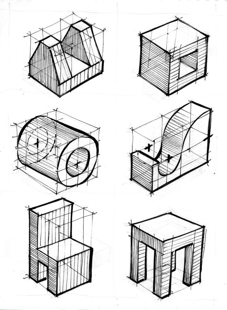 Exercícios para 1, 2 e 3 pontos de fuga - perspectiva cônica - 4