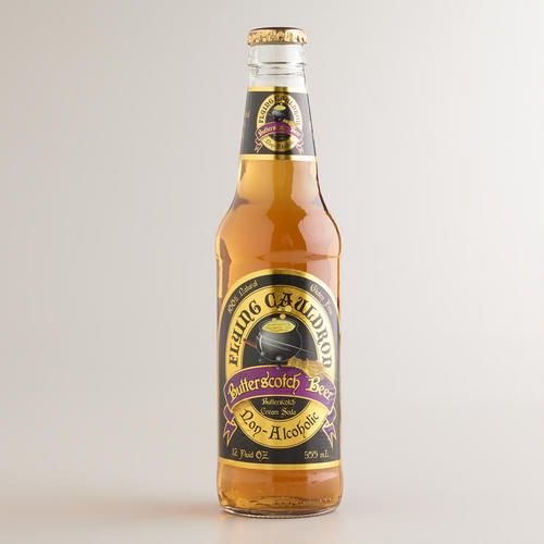 The combination of rich butterscotch infused with vanilla makes Flying Cauldron Butterscotch Beer a unique and delicious soda pop. An irresistible non-alcoholic refreshment, this cream soda can be enjoyed alone or with a scoop of your favorit ice cream for a yummy touch.