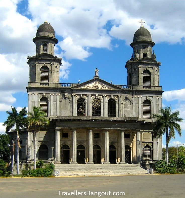 The Old Cathedral of Managua, known as the Catedral de Santiago in Spanish.