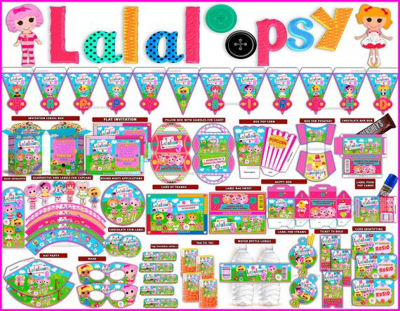 Lalaloopsy Pink Kit Imprimible Para Fiesta por PaperPlayMagic