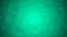 Emerald green abstract polygonal geometric background. Low poly. vector art illustration