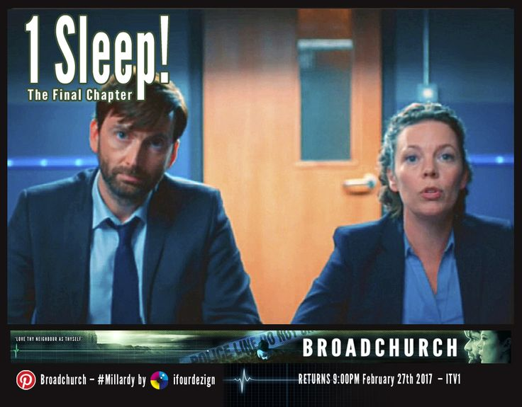 #Broadchurch 3 - The Final Chapter - 1 Sleep until UK air date #Countdown