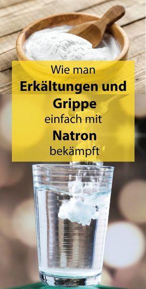 #natron #grippe #Erkältungen Da Natron extrem alkalisch ist, alkalisiert es uns…