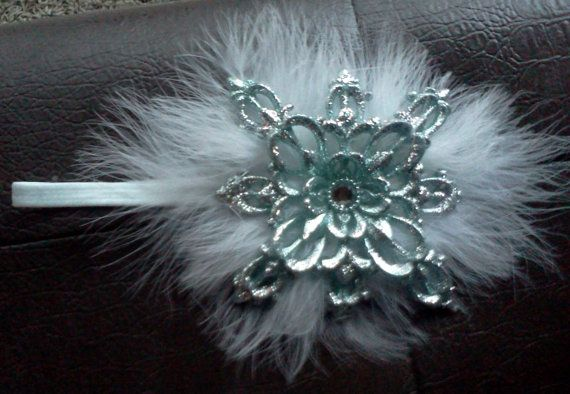 Christmas headband Ice Queen white with by HollywoodAndCompany, $14.99
