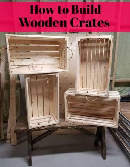 18+ Ideas Rustic Storage Bins Wooden Crates  – 3rd Grade!