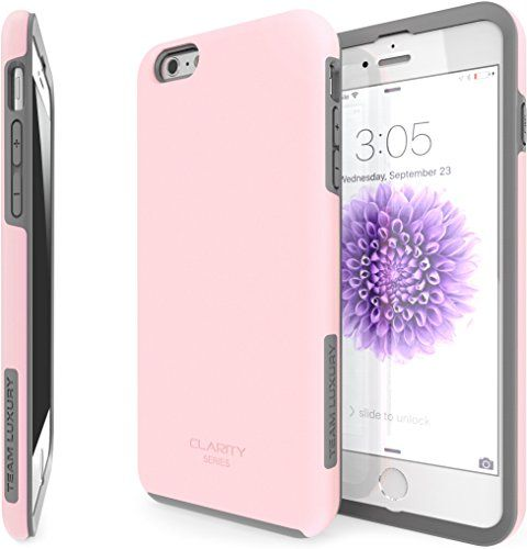 """iPhone 6S Plus Case, (5.5-Inch) TEAM LUXURY® [Clarity Series] **NEW** PINK [Slim-fit] Hybrid Armor Case [Dual-Layer] [Shock Absorbing Technology] Premium Protective Case for Apple iPhone 6 Plus (2014) / 6S Plus (2015) """"5.5-Inch"""" (Pastel Pink/ Gray) TEAM LUXURY http://www.amazon.com/dp/B00EBPGHO8/ref=cm_sw_r_pi_dp_8sjkwb17XZWTP"""
