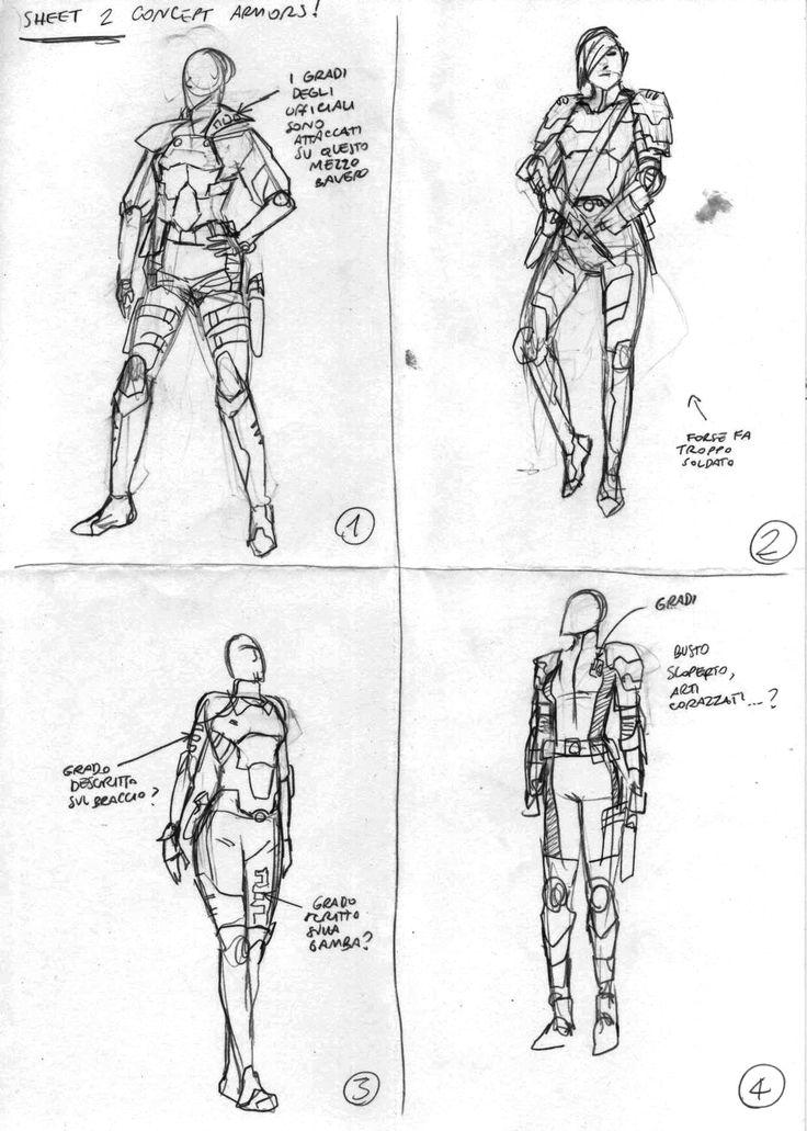 """Study sketch by Daniele Orlandini for """"Rim City"""" (a Radium Project). #scifi #character #creatures #comics #fumetto #fumetti #fantascienza #digitalart"""