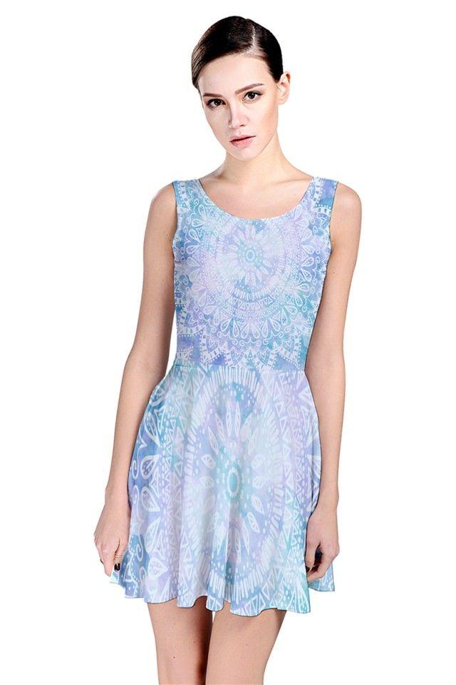 BLUE MANDALA Skater Dress #nikamartinez #blue #mandala #bohemian #dress #spanish #independent #pattern #designer #pinkcess #girly #fashion #moda #summer #2015 #boho #chic #cute #moda