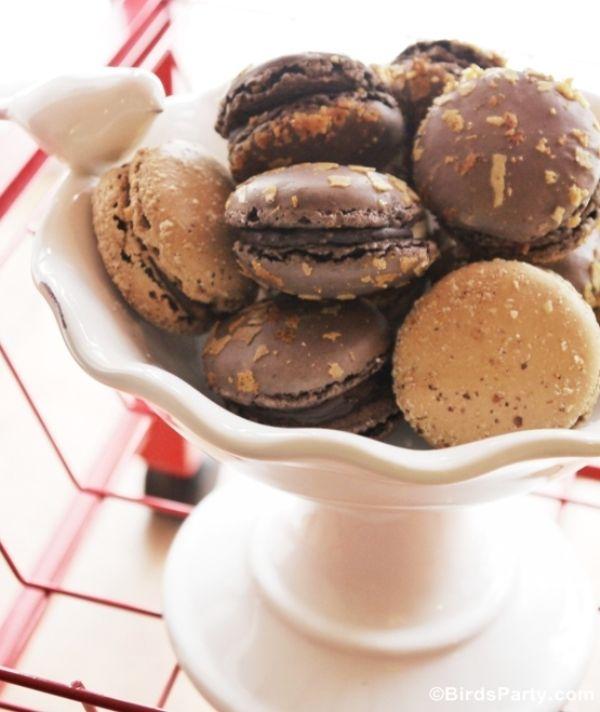 Bird's Party Blog: RECIPE: Crunchy Chocolate Macarons with Chocolate Ganache