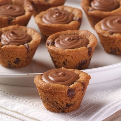 Chocolate chip cookie cups.         #food
